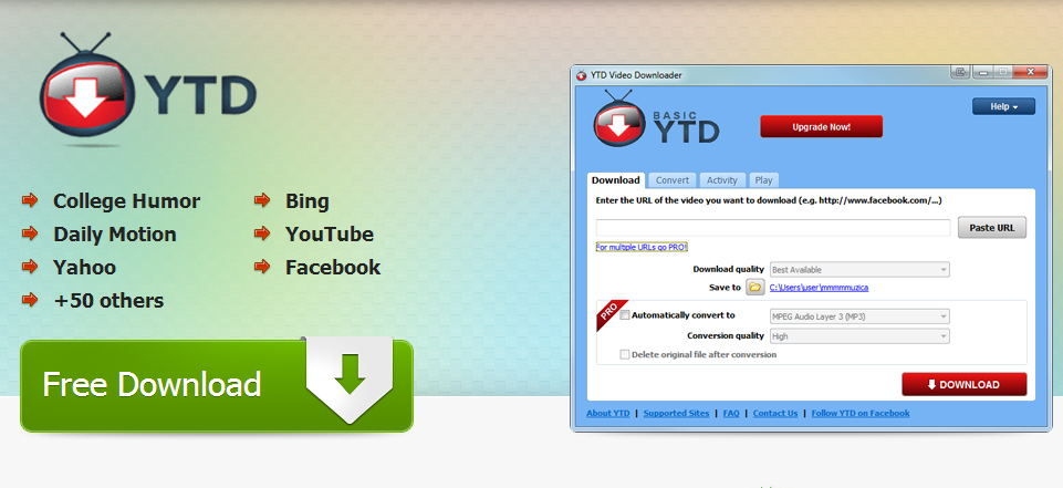 free ytd youtube downloader for windows 7